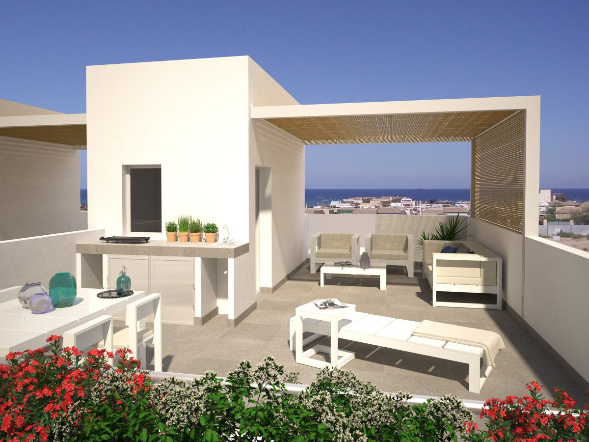 Attached Duplex For Sale with 2 and 3 Bedrooms with Wonderful Sea Views