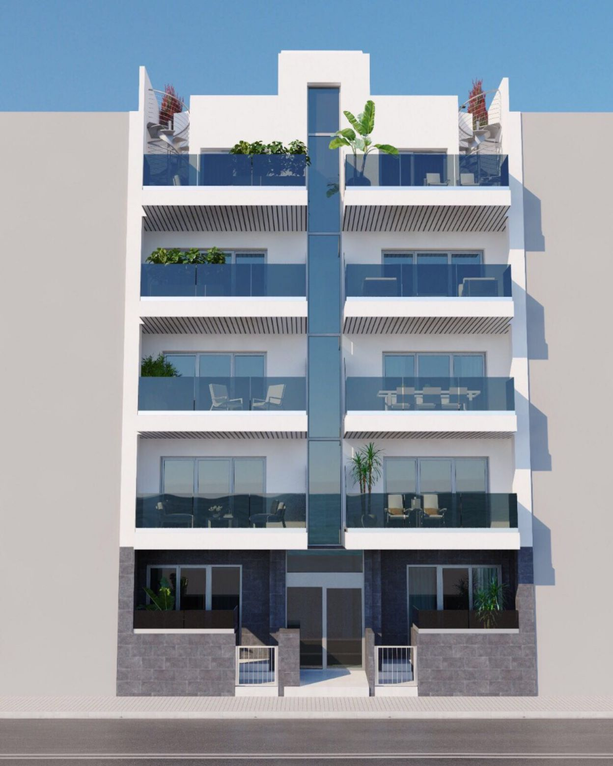 Apartments in Torrevieja with 3 Bedrooms and Terrace