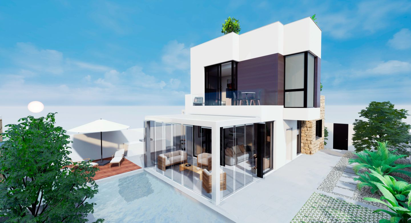 Villas with 3 bedrooms and basement in Torrevieja
