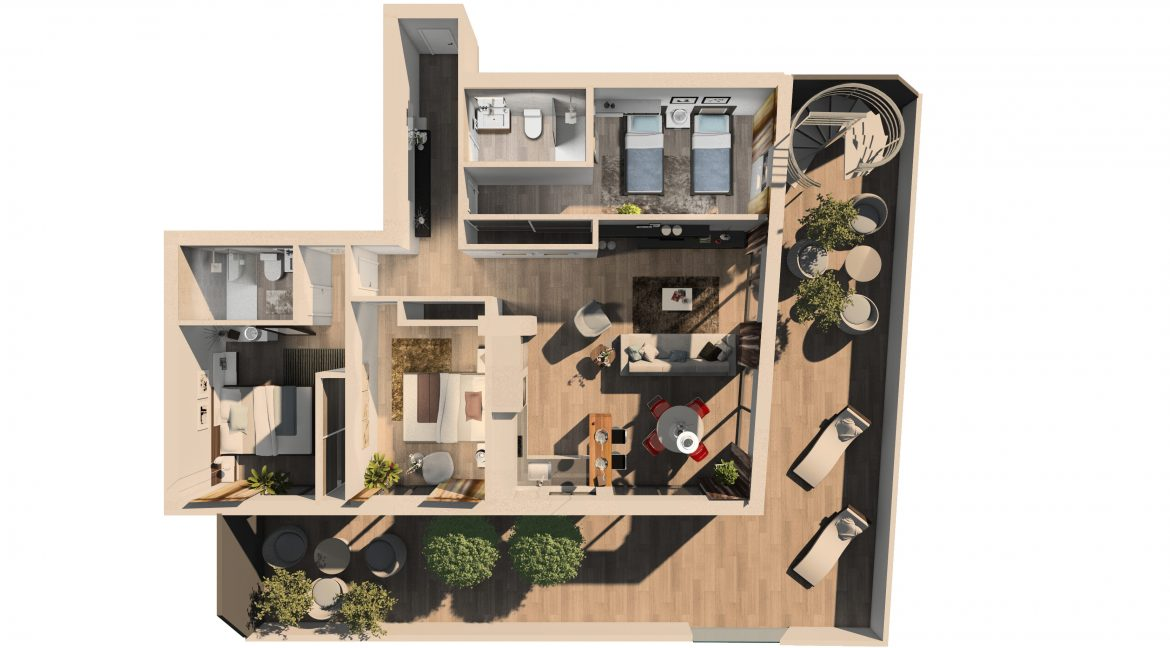 Apartments For Sale With 2 Bedrooms, Terrace And Solarium In Torrevieja