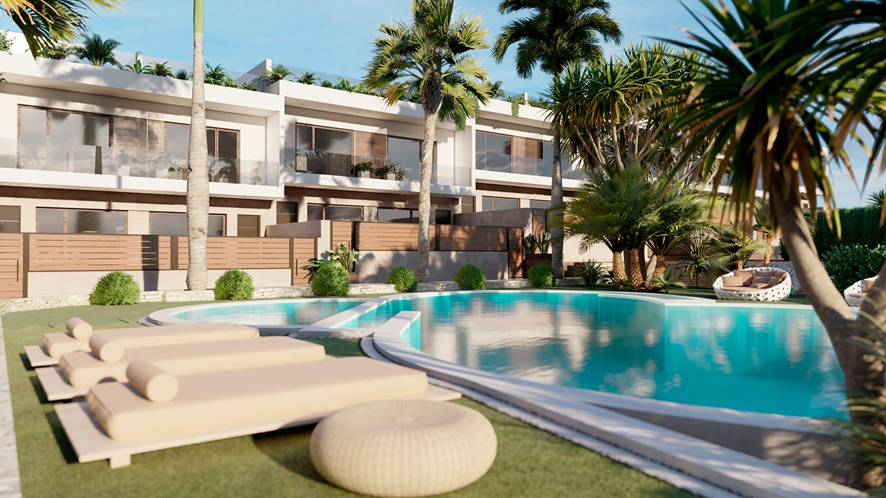 New Build 3 Bedrooms Duplex Townhouses For Sale in Los Altos, Torrevieja