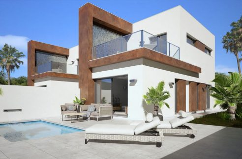 Detached 3 Bedrooms Villas with Private Pool For Sale in Daya Nueva