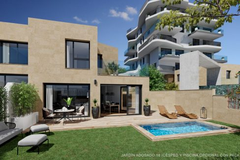 New Biuld in Villajoyosa Beach For Sale Townhouses and Apartmets 1 to 4 Bedrooms (42)