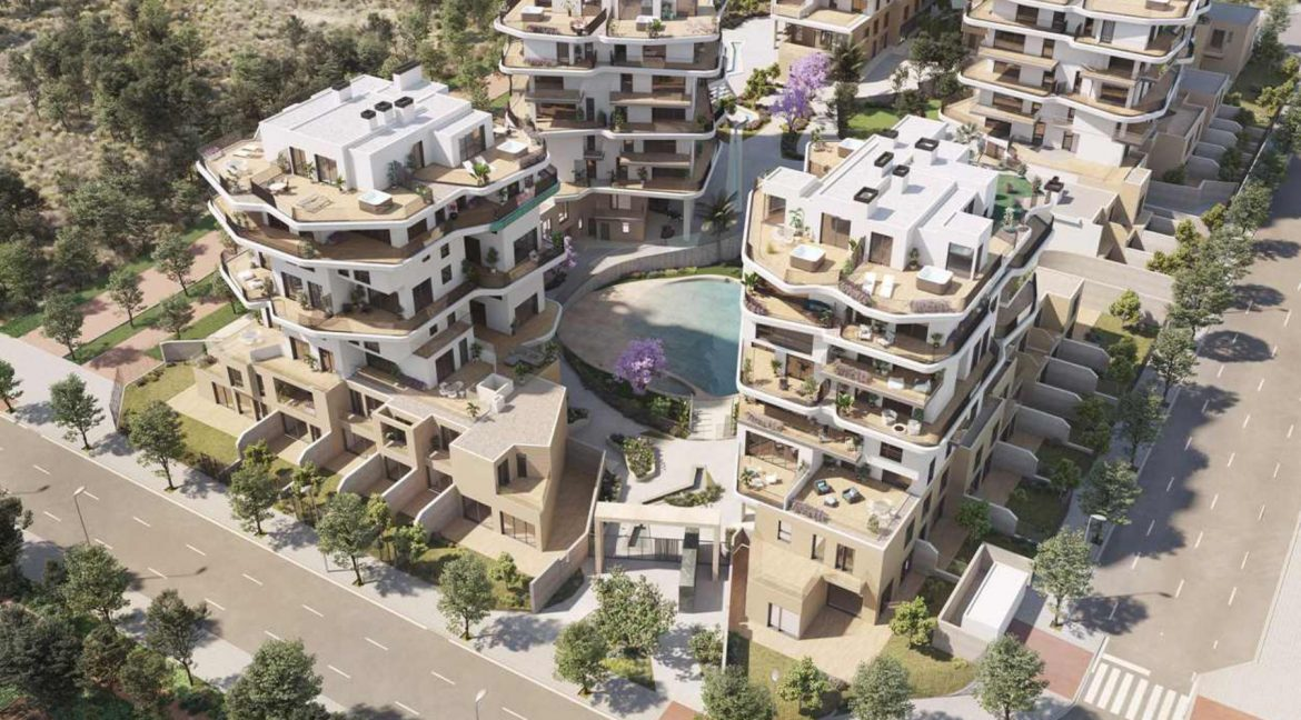 New Biuld in Villajoyosa Beach For Sale Townhouses and Apartmets 1 to 4 Bedrooms (55)