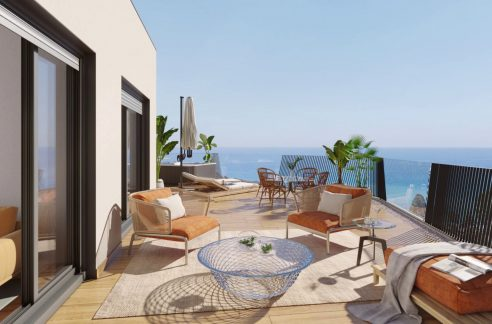 New Biuld in Villajoyosa Beach For Sale Townhouses and Apartmets 1 to 4 Bedrooms