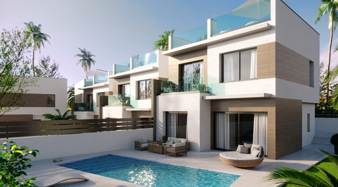 New Build Independent 3 Bedrooms Villas With Private Swimming Pool In Benijofar (38)