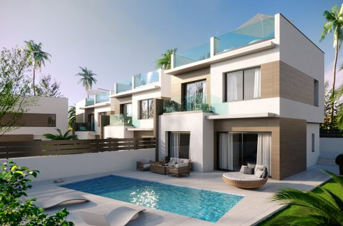 New Build Independent 3 Bedrooms Villas With Private Swimming Pool In Benijofar