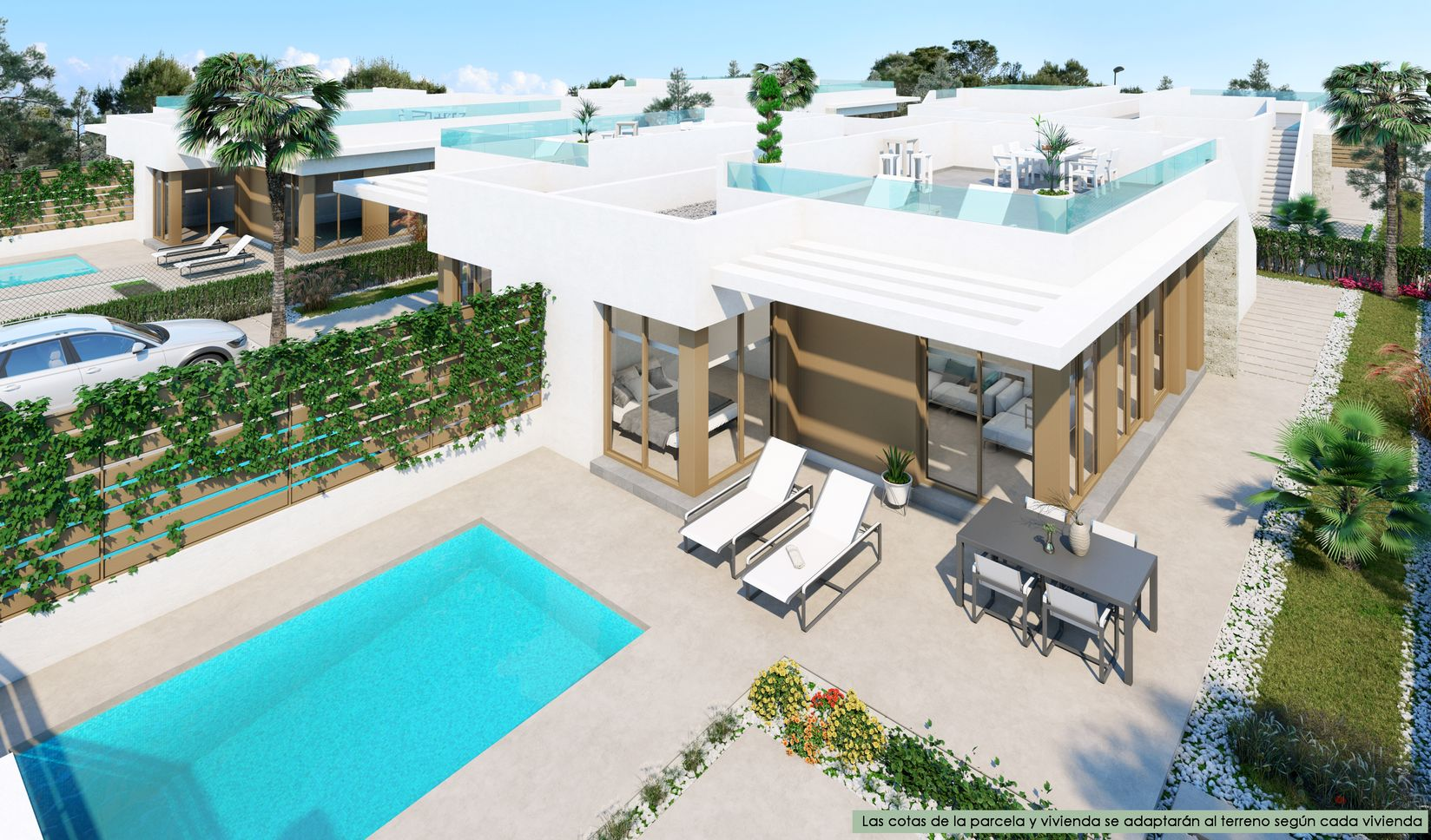 New Build Semi-independence Villa with 3 Bedrooms in Vistabella Golf