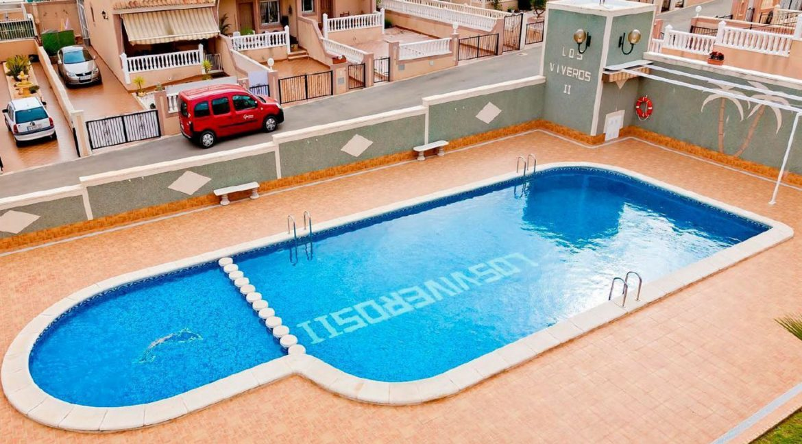 3 Bedrooms Townhouse.For Sale in Los Altos- Torrevieja with Solarium and Swimming Pooljpg (1)