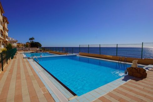 Bright 2 Bedrooms Apartment with Swimming Pool and Sea Views For Sale in Cabo Cervera - Torrevieja