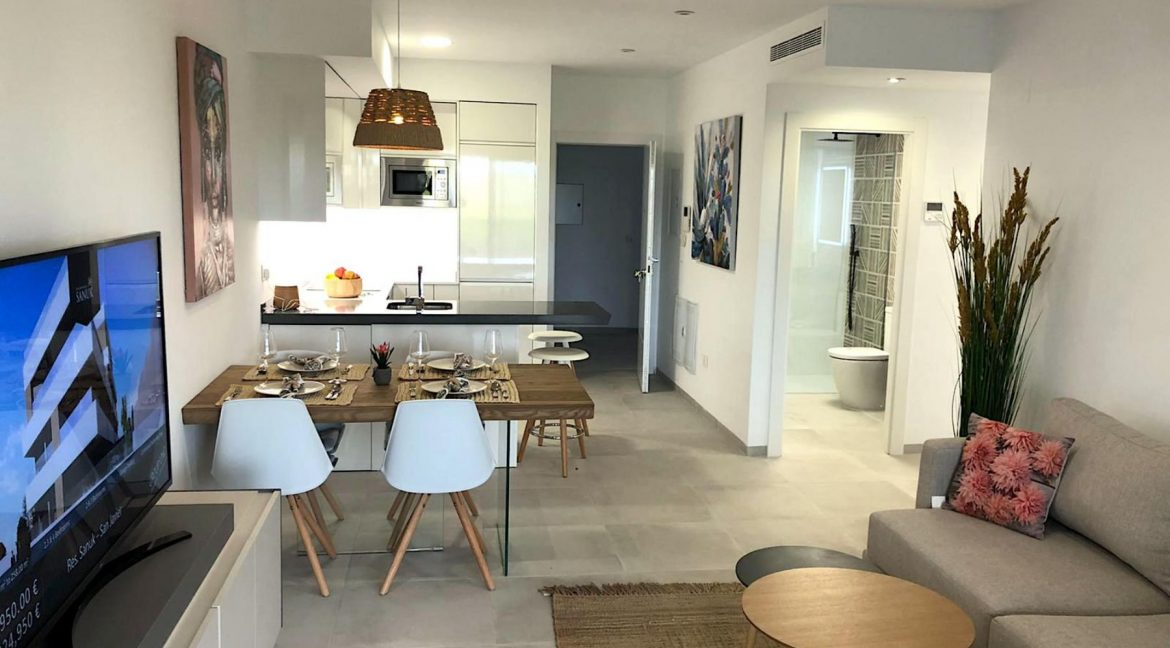New Build Modern 2 Bedrooms Apartments with Garden or Solarium in San Javier (8)