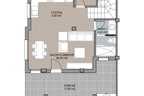 New Build 2 Bedrooms Duplex Located Just 600 Meters from the Beach in La Marina