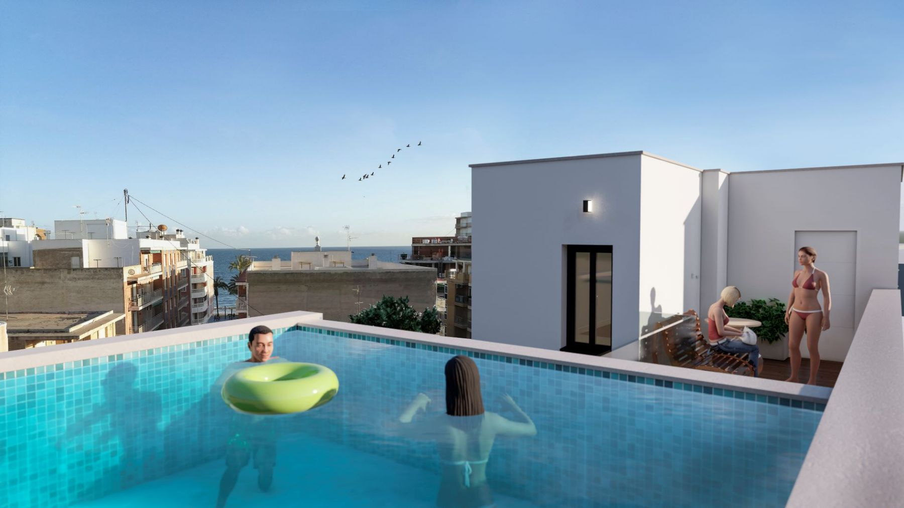 New Build 2 Bedrooms Apartments For Sale in Torrevieja - 300 m from Playa del Cura