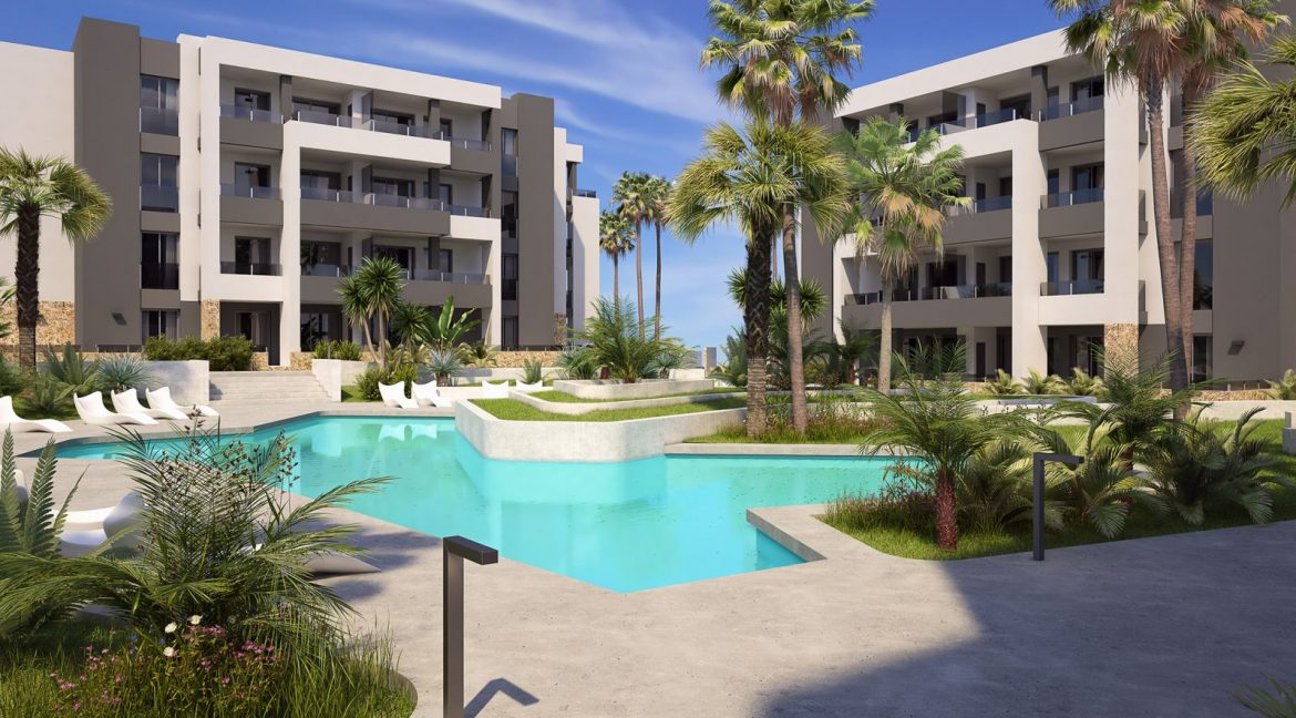 New Build 2 and 3 Bedrooms Apartments For Sale in Orihuela Costa - Swimming Pool with Area For Children (6)