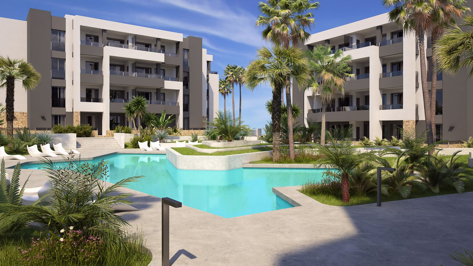 New Build 2 and 3 Bedrooms Apartments with Swimming Pool For Sale in Orihuela Costa