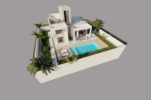 New Build 3 Bedrooms Independent Villas with Private Pool in Finestrat