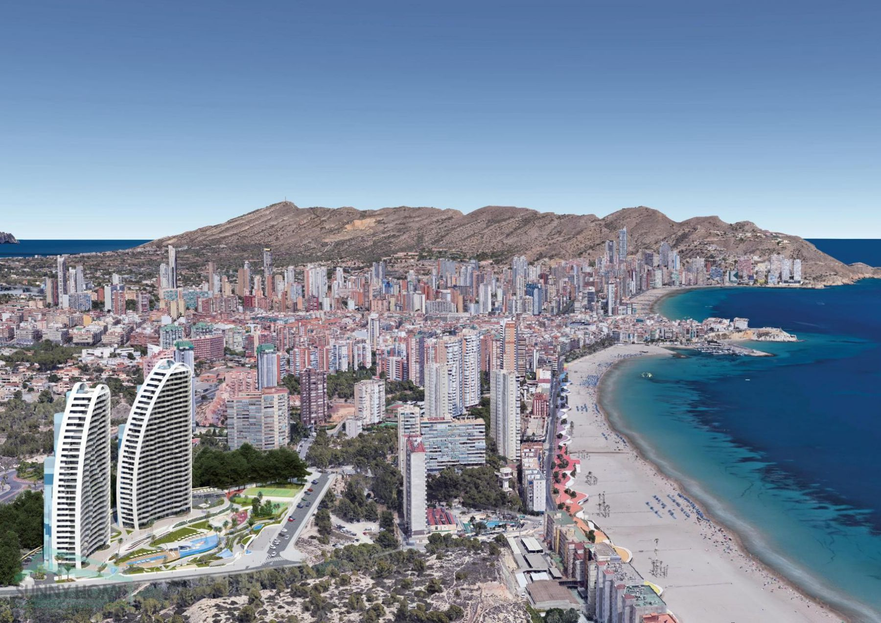 New Build Apartments with Sea Views Just 200 meters from Poniente Beach in Benidorm