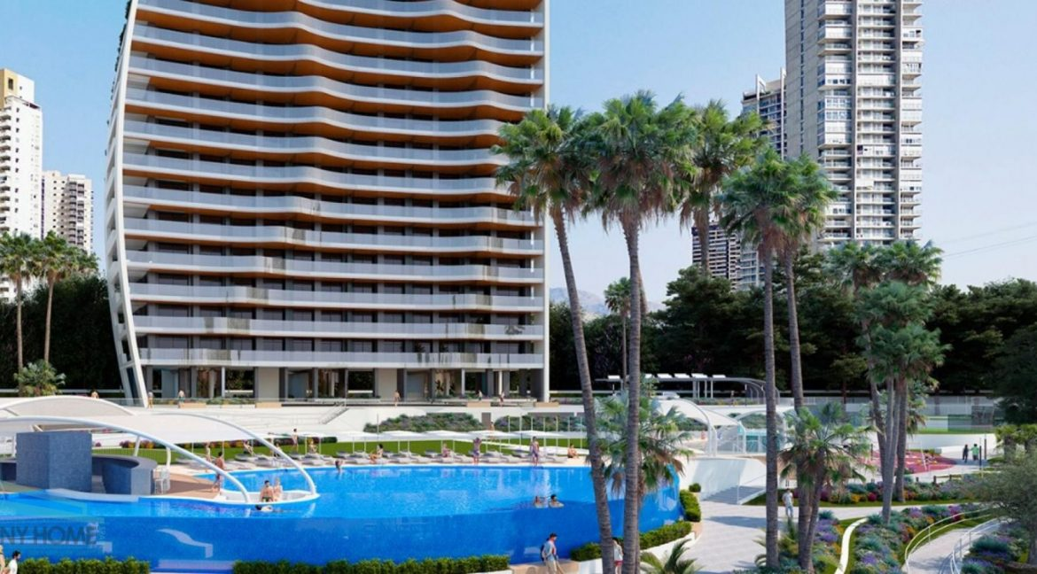 New Build Apartments with Sea Views Just 200 meters from Poniente Beach in Benidorm (19)