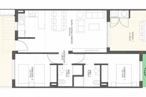 New Build Bungalows For Sale in Finestrat - Community Pool and Garage